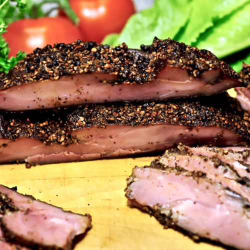 Applewood-Smoked Turkey Thigh Pastrami